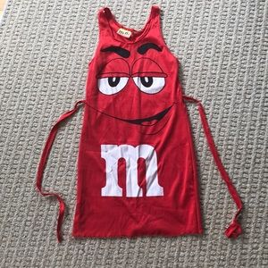Tween Red M&M Tank Dress Costume